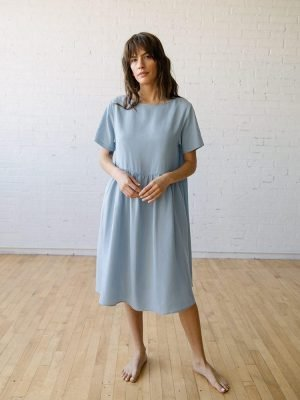 Eco friendly blue dress from Tradlands