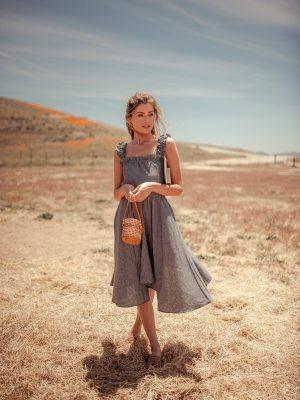 Vanna eco-friendly hemp and Tencel dress