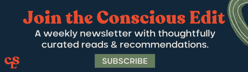 The Conscious Edit Subscription Banner_Navy
