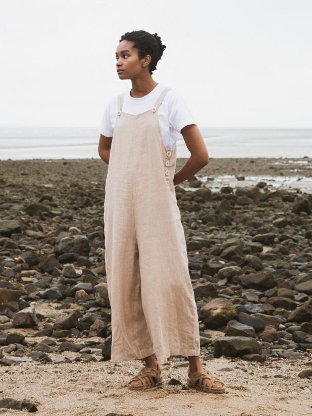 Eco-friendly beige jumpsuit from Beaumont Organic