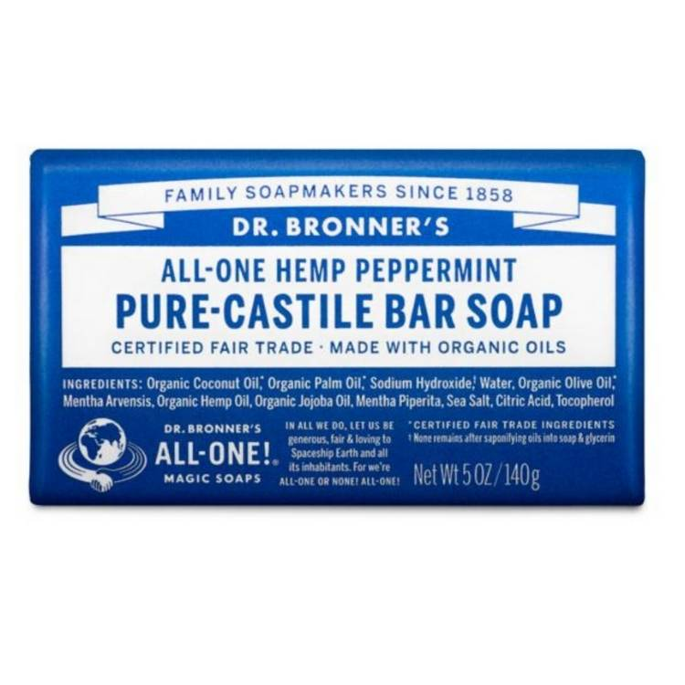 Biodegradable and organic soap from Dr. Bronners