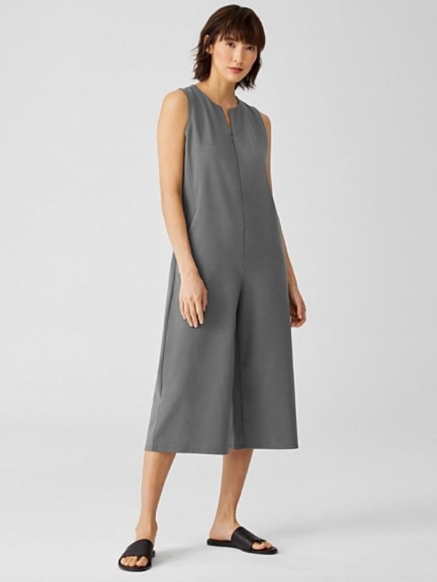 Eco and ethical grey jumpsuit from Eileen Fisher