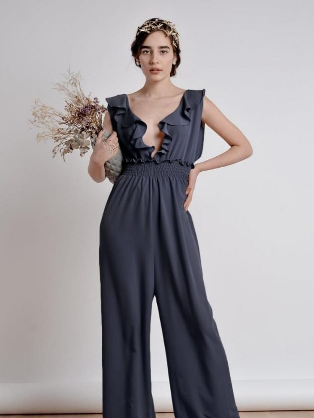 Eco-friendly dark blue jumpsuit from ourCommonplace