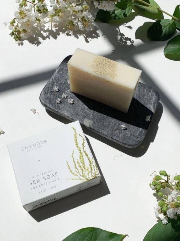 All natural and zero waste soap from Samudra Skin & Sea