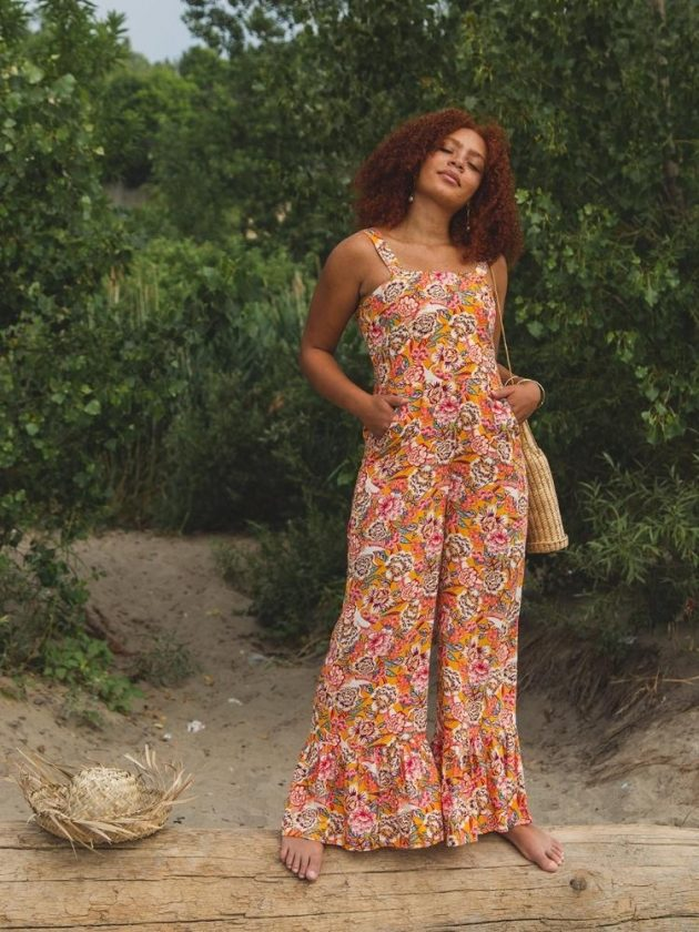 Eco-friendly flowery jumpsuit from TAMGA Designs