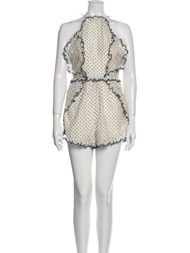 Eco white with black dots jumpsuit from The RealReal