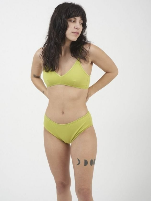 Green eco-friendly underwear from Brook There