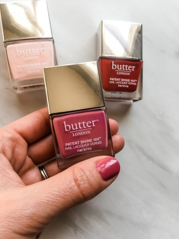Non-toxic pink and red nail polishes from Butter London