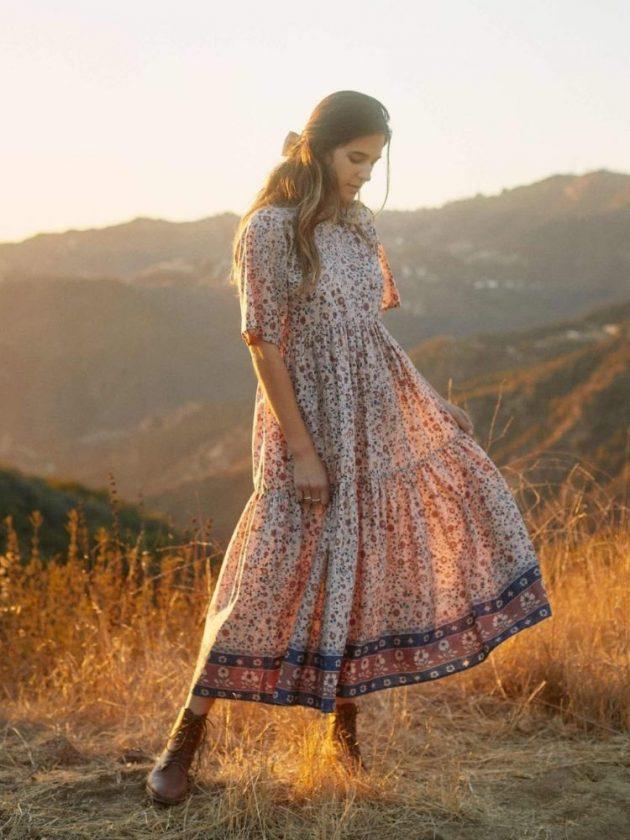 Flowy ethical dress from Christy Dawn