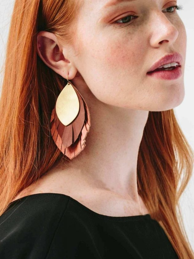 Fair trade handcrafted earrings from Noonday Collection