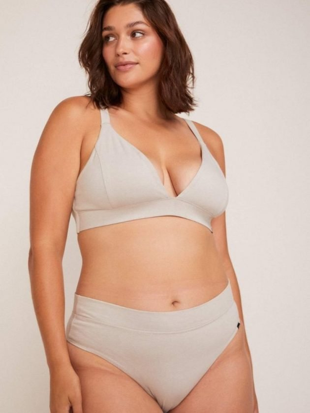 Grey eco-friendly underwear from Le Buns