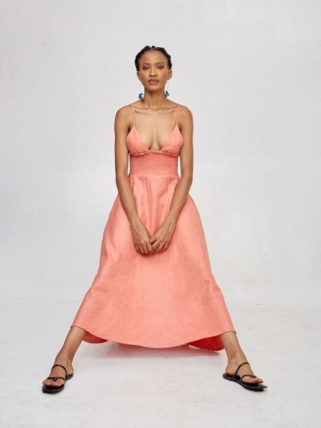 Eco-friendly pink dress from Mie