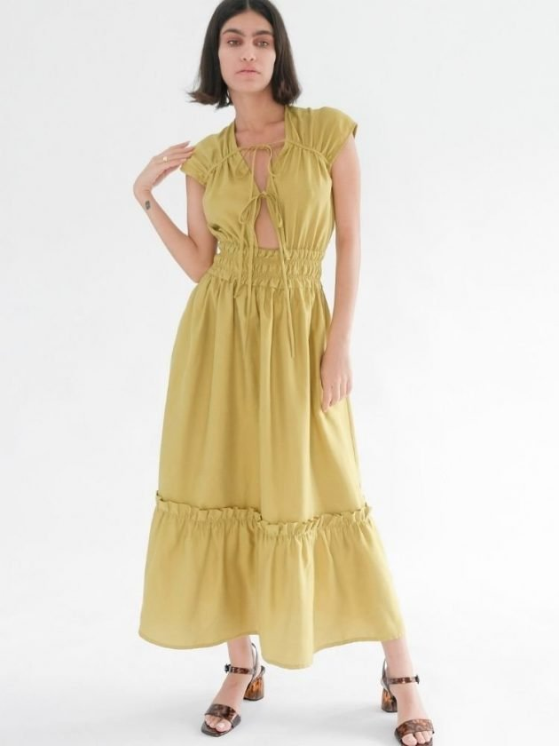 Yellow eco-friendly dress from OhSevenDays