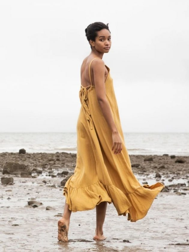 Organic cotton yellow dress from Beaumont Organic