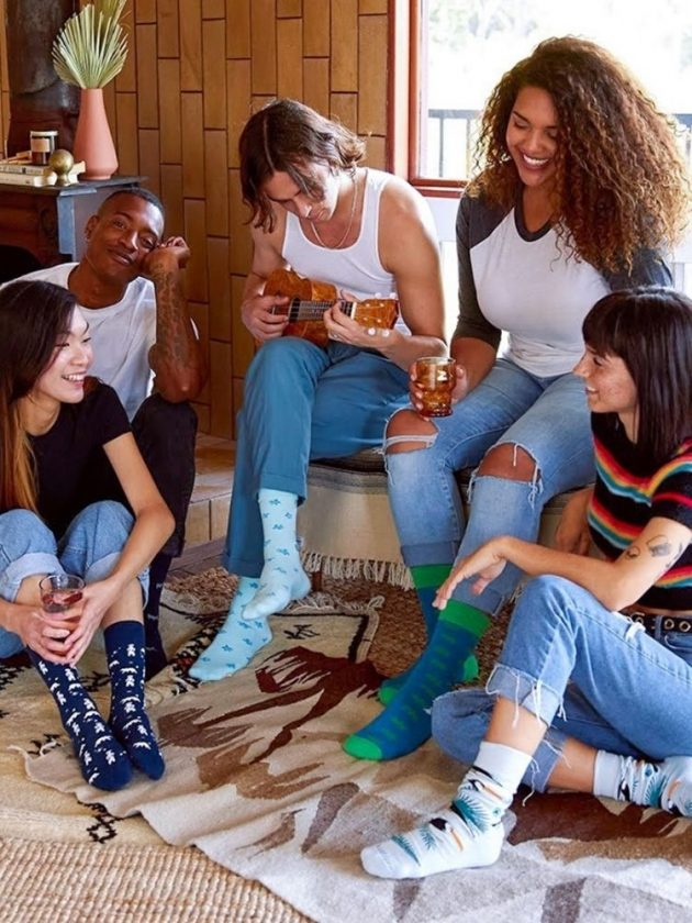 Organic-certified cotton socks from Conscious Step