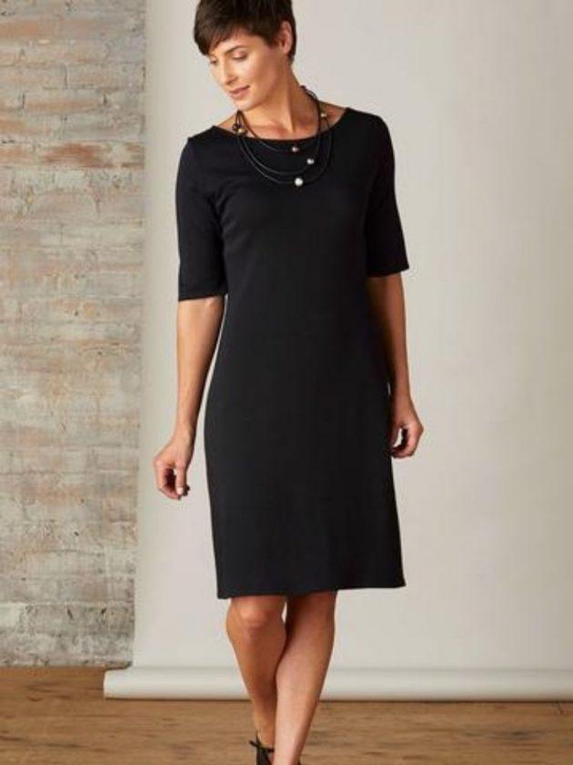 Black dress made with natural materials from Fair Indigo
