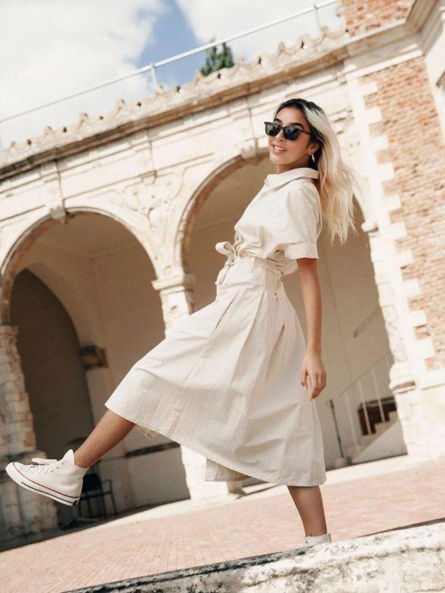 Organic cotton white dress from Komodo