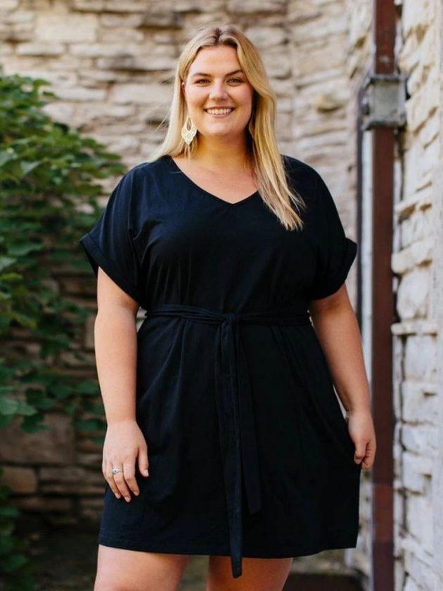Organic cotton black dress from Mata Traders