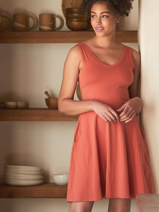 Organic cotton orange dress from PACT