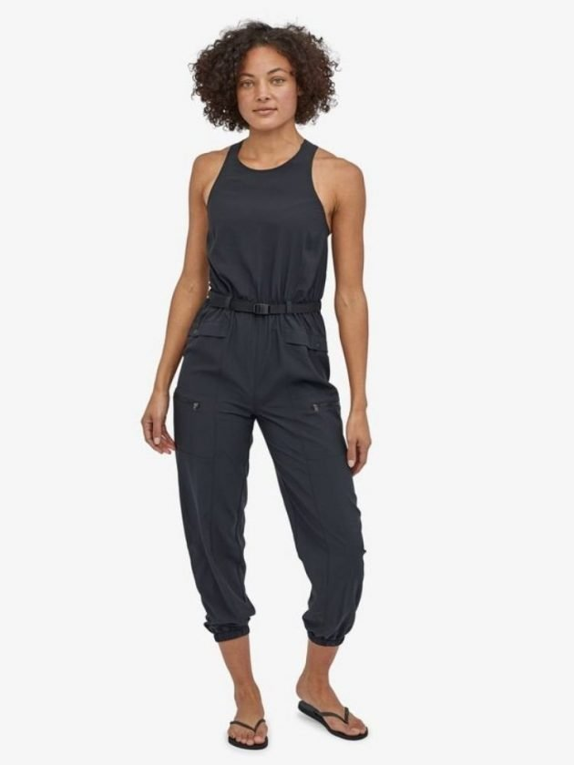 Organic cotton black jumpsuit from Patagonia