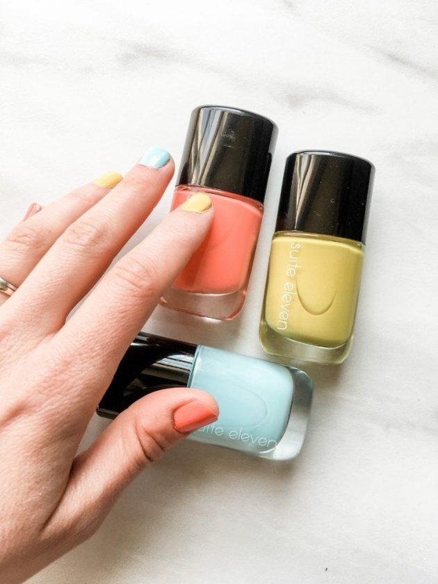 10-free blue, yellow and pink nail polishes from Suite 11
