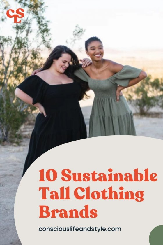10 Sustainable tall clothing brands - Conscious Life & Style