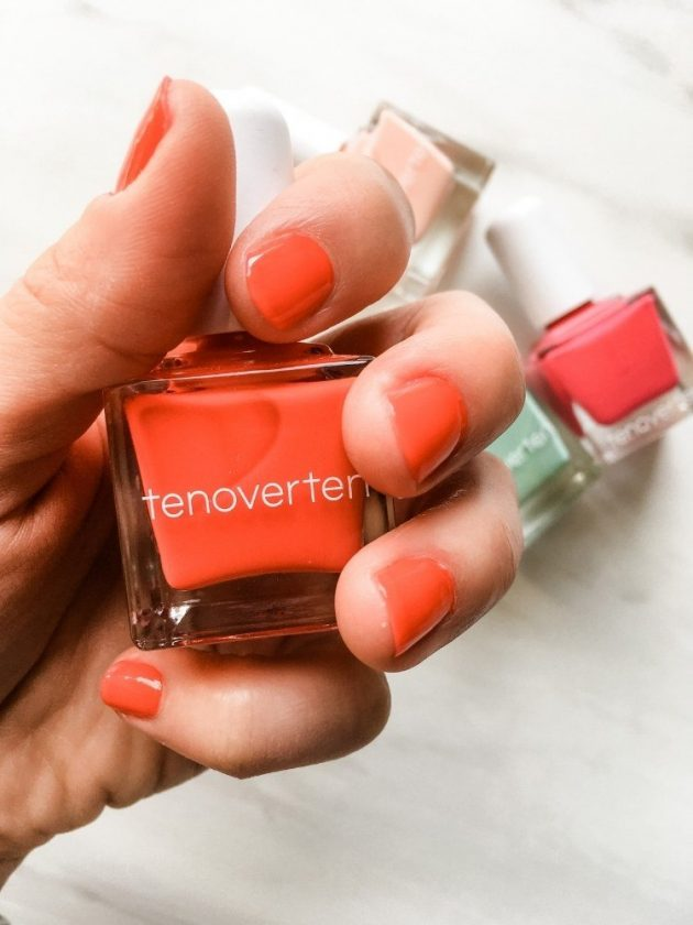 Cruelty-free red nail polish from Ten Over Ten