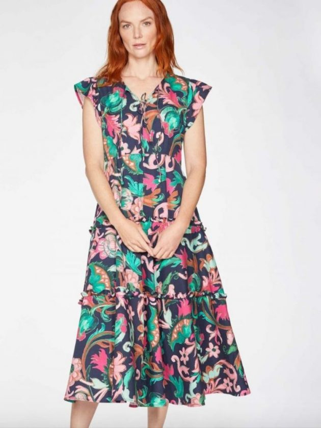 Floral sustainable dress from Thought Clothing