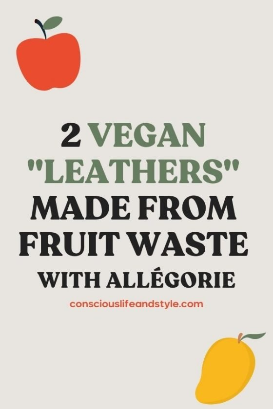 2 Vegan Leathers Made From Fruit Waste - Conscious Life and Style