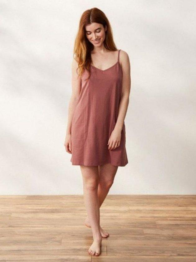 Sustainable lounge dress from Coyuchi