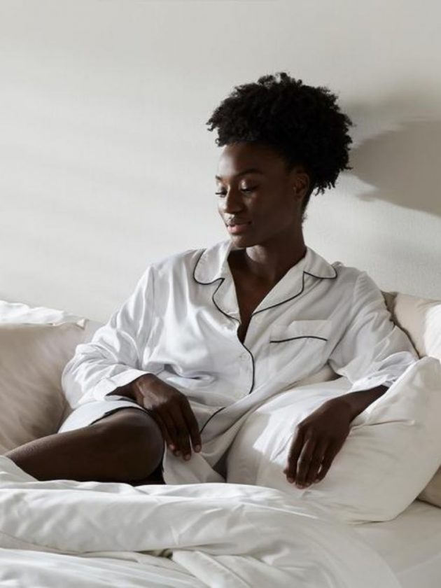 Vegan silk pyjamas from Ettitude