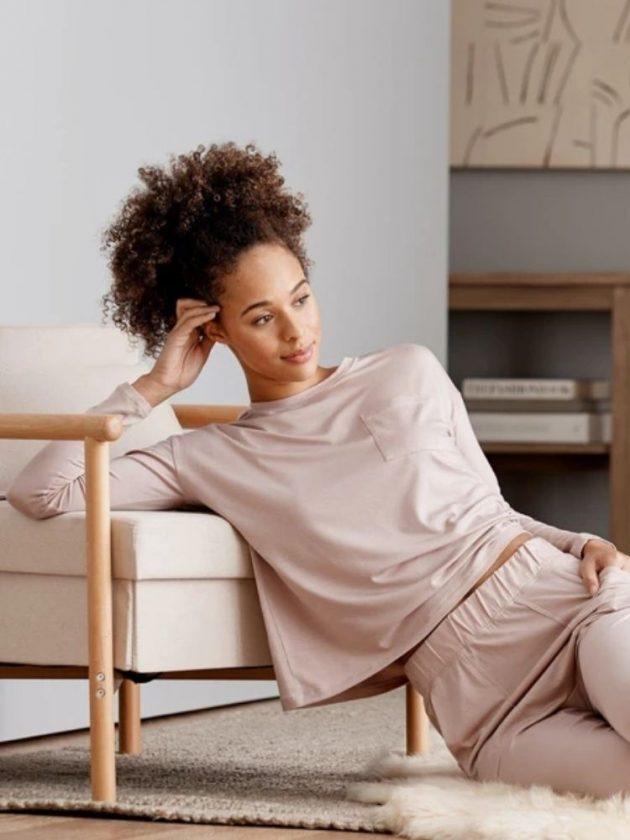 Sustainable silky pink pyjamas from Sijo