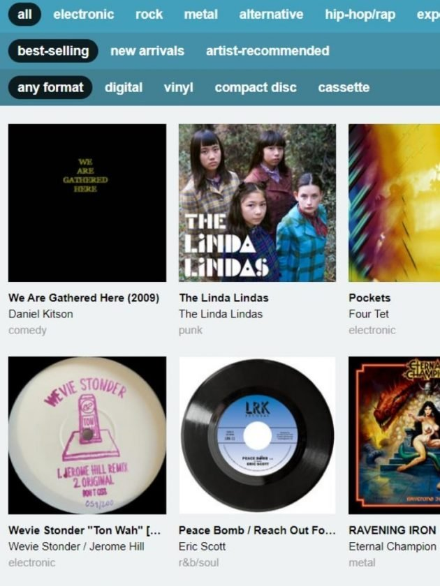 Eco-friendly amazon music streaming alternative from Bandcamp