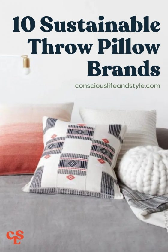 10 Sustainable Throw Pillow Brands - Conscious Life and Style