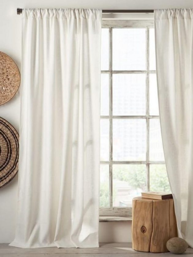 Organic white eco-friendly curtains from Kingdom of Comfort