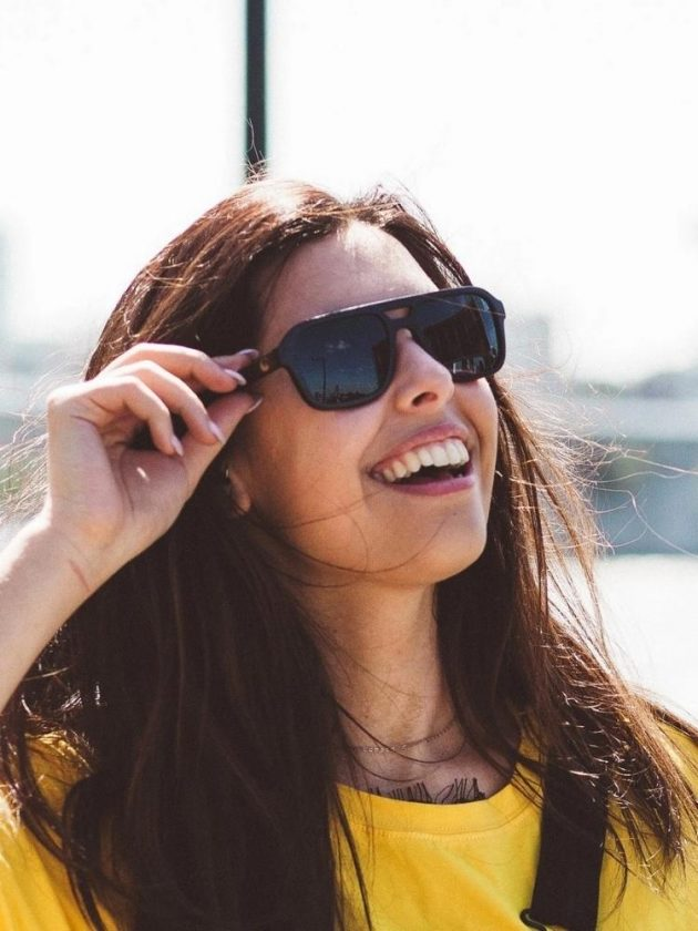 Black Eco-friendly Sunglasses from Panda