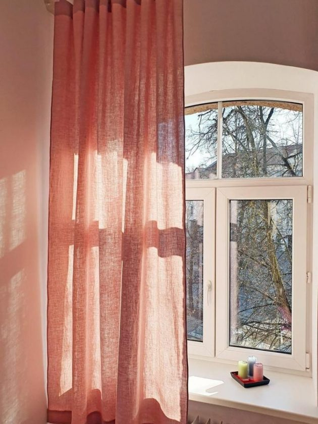 Pink sustainable curtains from The Best Linen