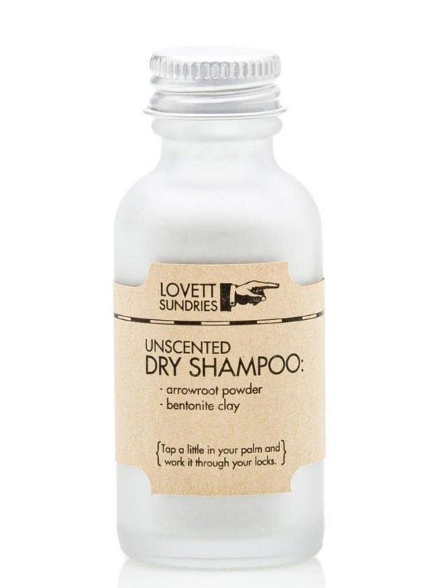 Plastic free dry shampoo from Lovett Sundries