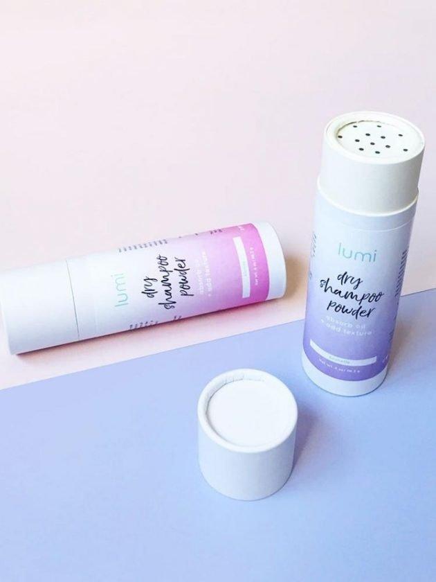 Zero waste dry shampoo from Lumi Basics