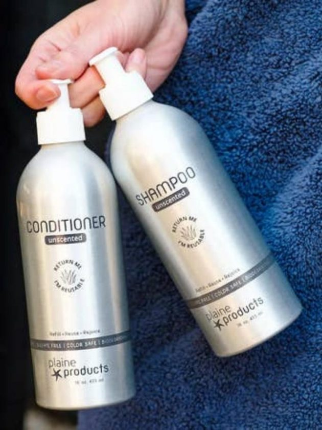 Zero waste hair care shampoo and conditioner from Plaine Products