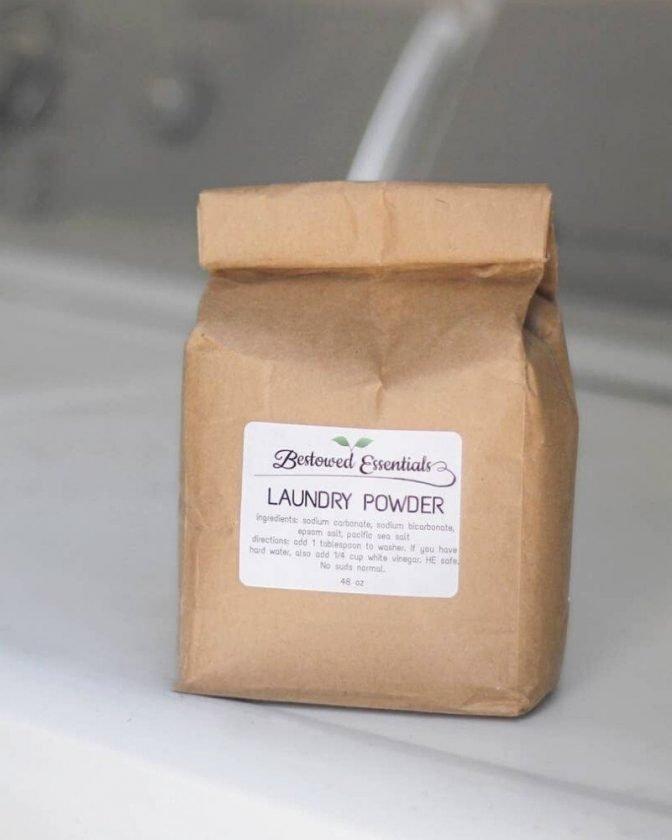 Zero Waste Laundry Powder bag from Bestowed Essentials