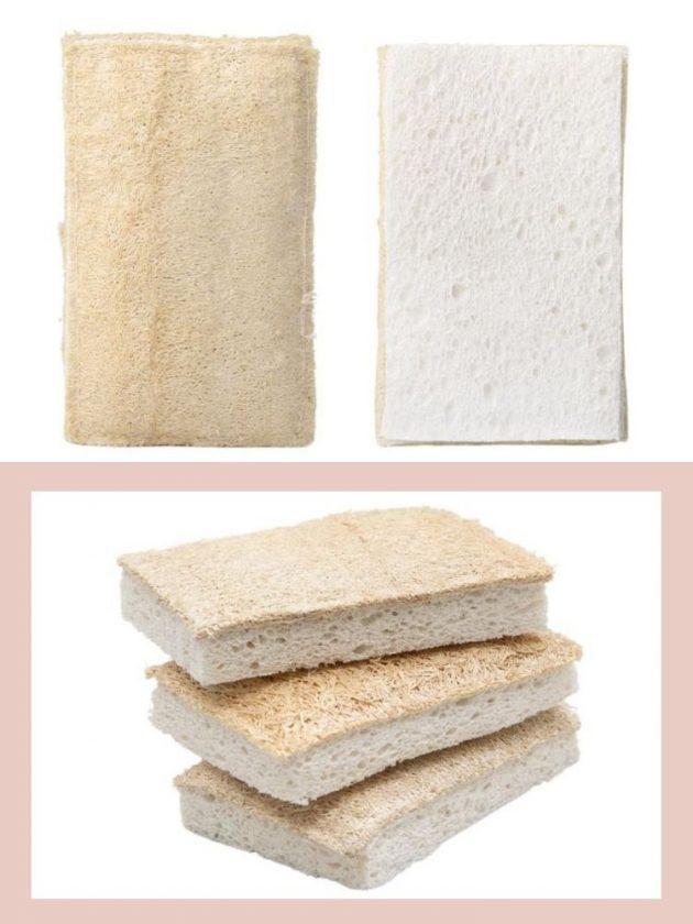 Natural loofah dish sponge