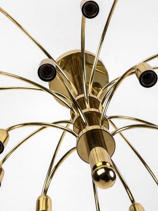 Eco-friendly gold chandelier from Chairish
