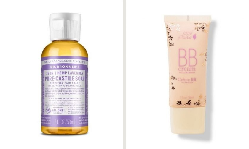 Dr Bronners Castile Soap and 100% Pure BB Cream