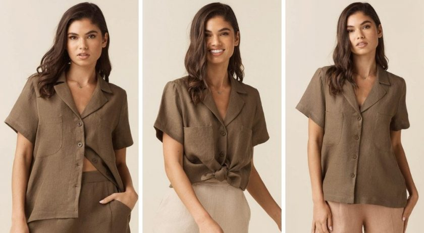Versatile shirt from Vetta for packing like a minimalist