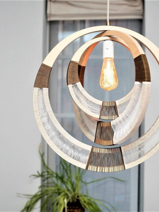 Eco-friendly Necklace pendant lighting from Modern Gesture