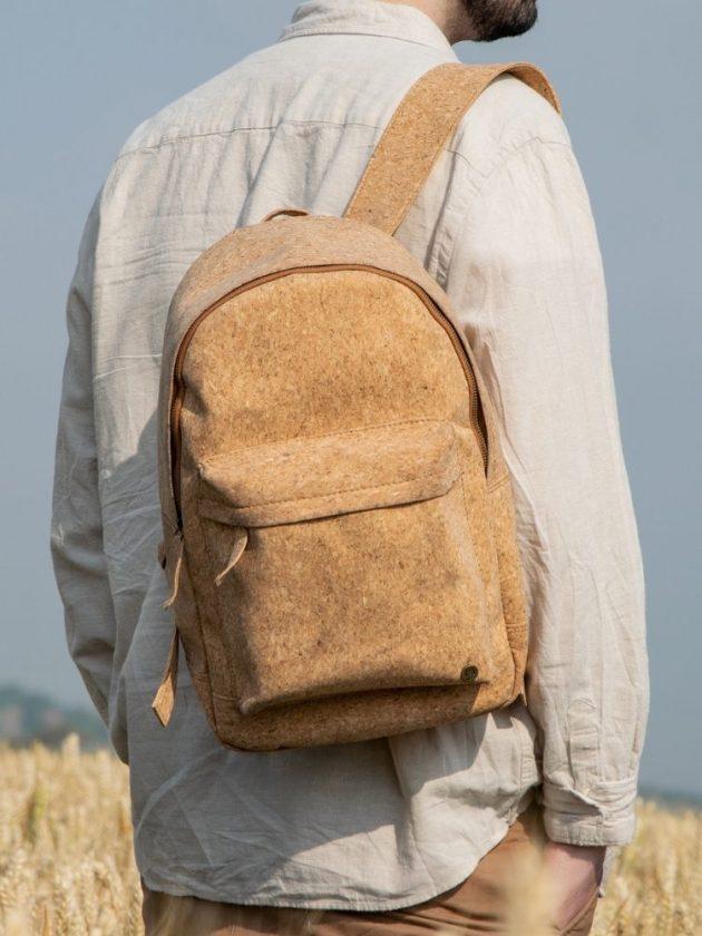 Eco-friendly vegan cork backpack from MAHI