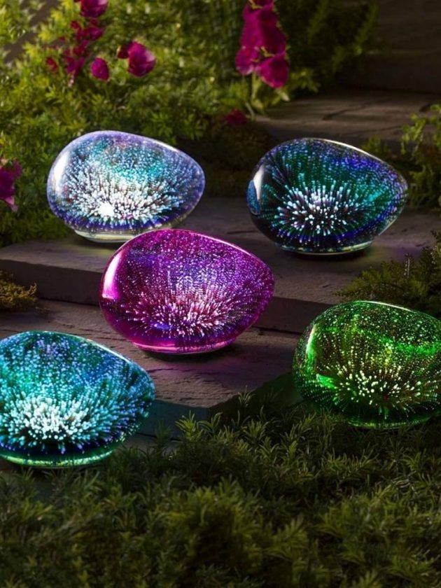 Recycled eco-friendly glass night lights from VivaTerra