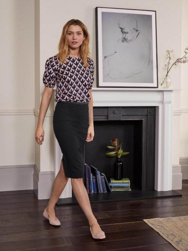 Ethical wear-to-work pencil skirt and blouse from Boden