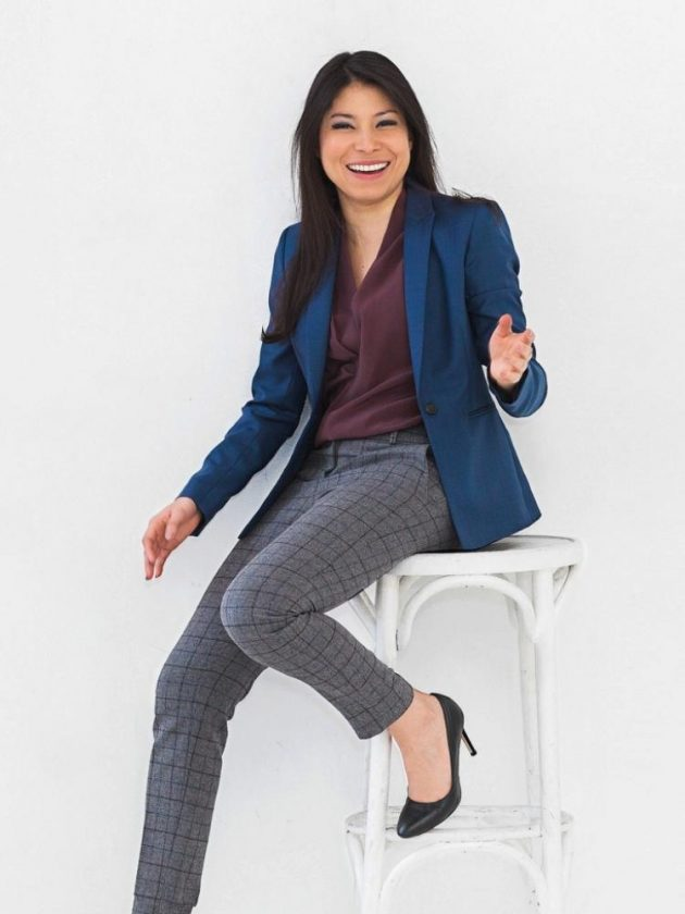 Ethical workwear blazer, pants and tops from Citizen's Mark